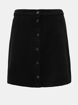 Čierna sukňa v semišovej úprave Jacqueline de Yong Stormy