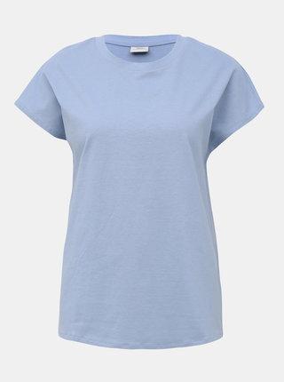 Světle modré basic tričko Jacqueline de Yong Lennie