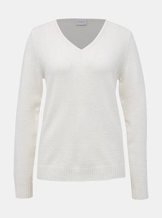 Biely basic sveter VILA Ril