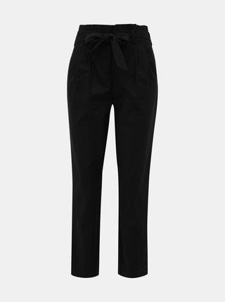 Černé zkrácené kalhoty VILA Sofina