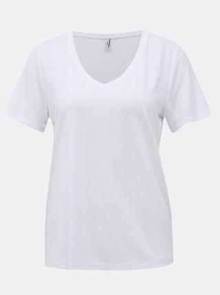 Bílé basic tričko ONLY Free Life