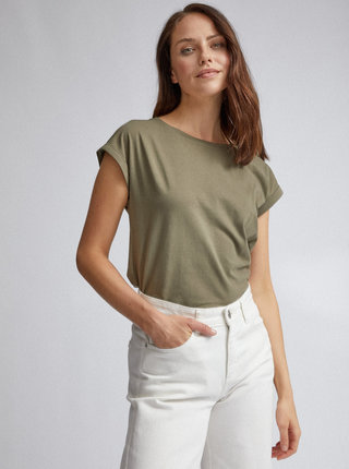 Kaki basic tričko Dorothy Perkins