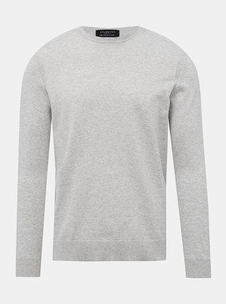 Svetlošedý basic sveter Selected Homme Daniel