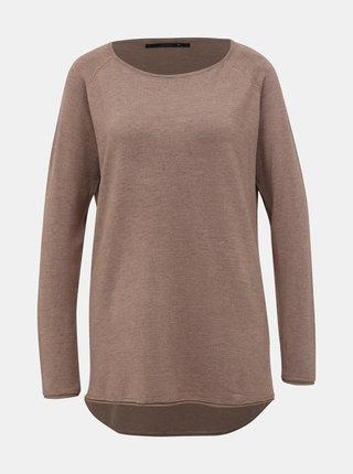 Hnedý basic sveter ONLY Mila Lacy