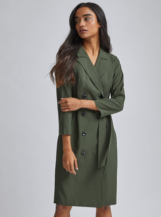 Tmavě zelené šaty Dorothy Perkins Petite