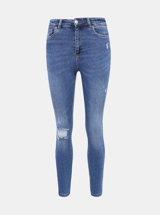 Modré zkrácené skinny fit džíny ONLY Mila