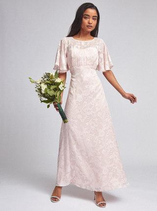 Rúžové kvetované maxišaty Dorothy Perkins