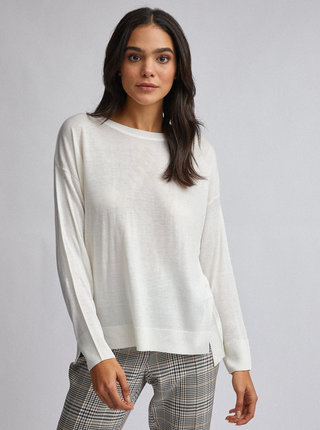 Krémový basic sveter Dorothy Perkins