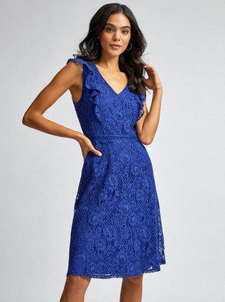 Modré krajkové šaty Dorothy Perkins