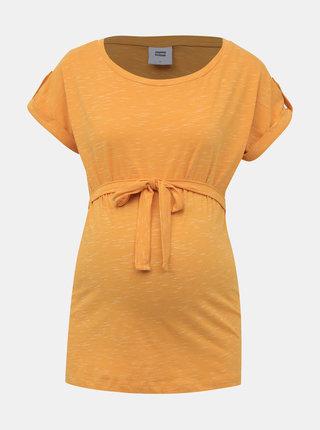 Hořčicové těhotenské tričko Mama.licious Anthea