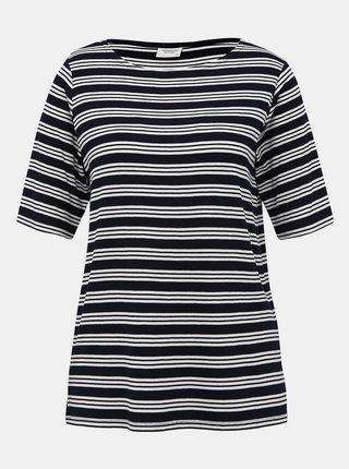 Tmavomodré pruhované tričko Jacqueline de Yong Camina