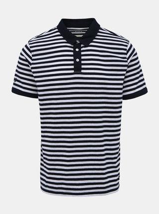 Bílo-modré pánské pruhované polo tričko HELLY HANSEN Fjord