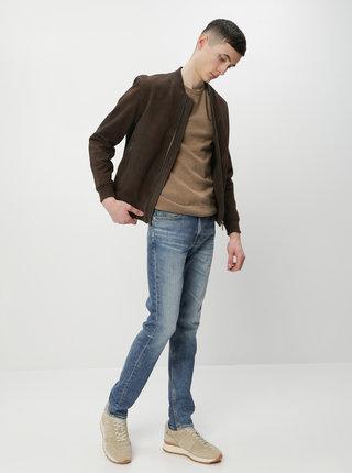 Hnědý pánský basic svetr Tom Tailor