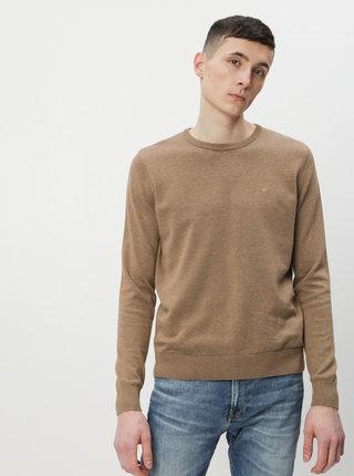 Hnedý pánsky basic sveter Tom Tailor