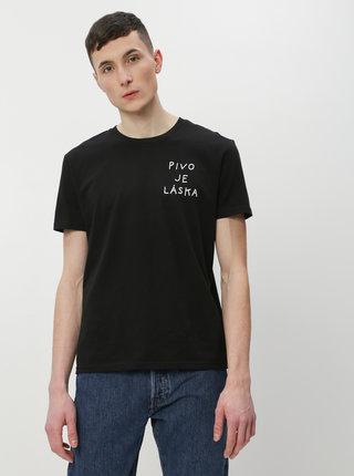 Čierne pánske tričko ZOOT Original Pivo je láska