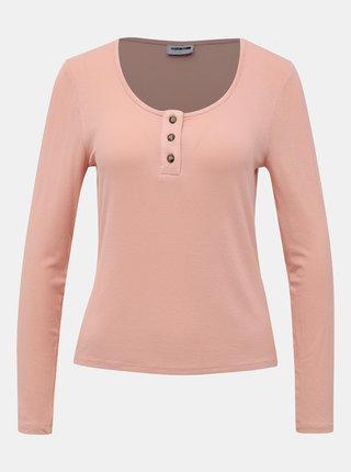 Světle růžové tričko Noisy May Henley