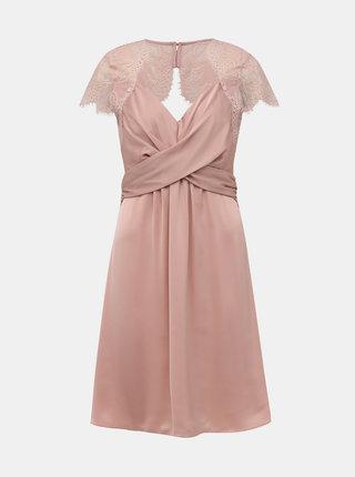 Svetloružové šaty s krajkou VILA Shea