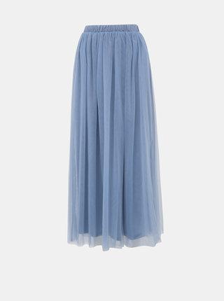 Modrá tylová maxi sukně VILA Zamara