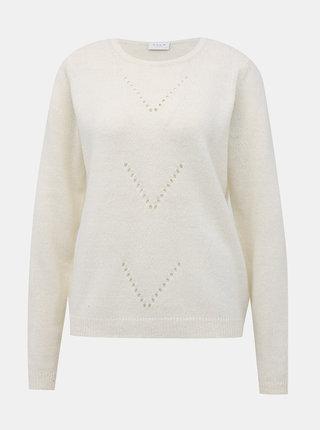 Biely sveter VILA Suril