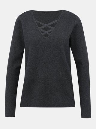 Tmavě šedý svetr VILA Lacal