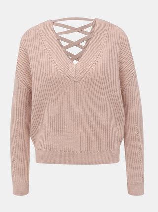 Svetloružový sveter TALLY WEiJL