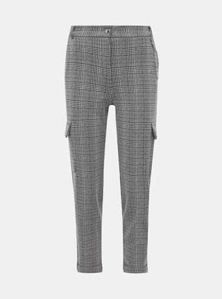 Šedé kostkované zkrácené kalhoty TALLY WEiJL Quard
