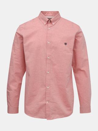 Rúžová slim fit košeľa Jack & Jones Bla