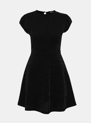 Čierne trblietavé šaty TALLY WEiJL Jan