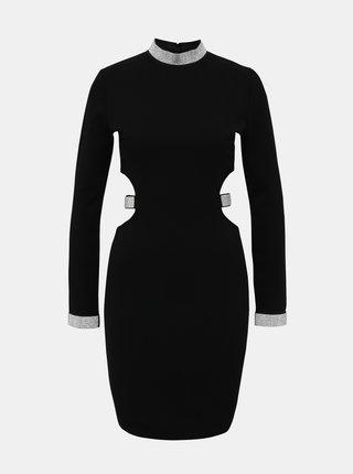 Černé pouzdrové šaty s průstřihy TALLY WEiJL Martha