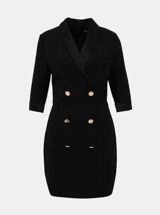 Čierne púzdrové šaty TALLY WEiJL Gelska