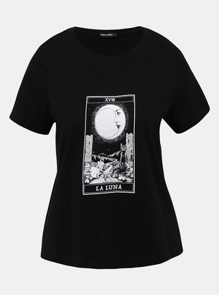 Čierne tričko s potlačou TALLY WEiJL Teka
