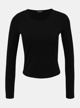 Čierny basic crop top TALLY WEiJL Lisi