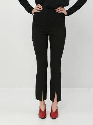 Černé kalhoty s rozparky Miss Selfridge