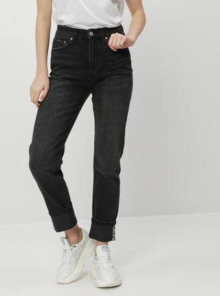 Tmavě šedé dámské slim fit džíny Calvin Klein Jeans