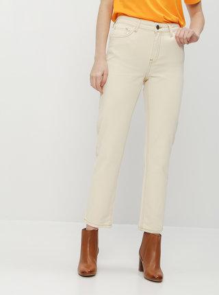 Krémové straight fit džíny Noisy May Jenna