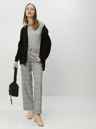 Šedé dámské kostkované kalhoty Tom Tailor Lea