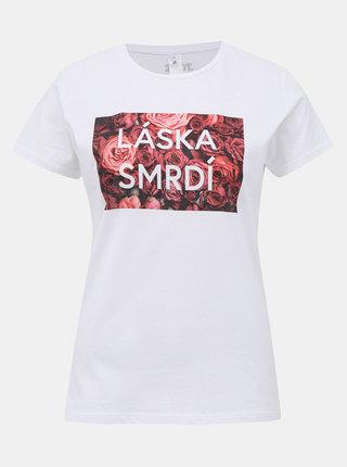 Bílé dámské tričko ZOOT Original Láska smrdí