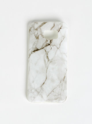 Bílý vzorovaný obal na Samsung Galaxy S7 Edge Haily´s Marbel