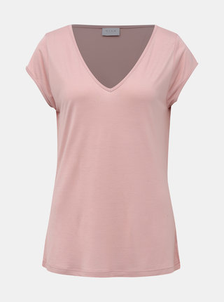 Růžové basic tričko VILA Coop