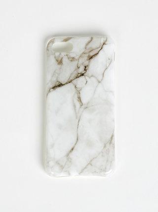 Biely vzorovaný obal na Iphone 7 Haily´s Marbel