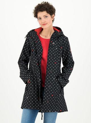Čierny bodkovaný funkčný softshellový kabát Blutsgeschwister Wild Weather