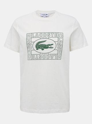 Krémové pánske tričko s potlačou Lacoste