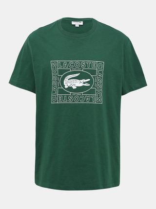 Zelené pánske tričko s potlačou Lacoste