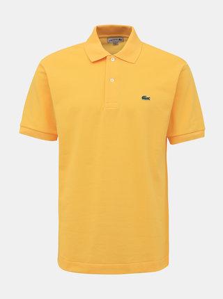 Žltá pánska basic polokošeľa Lacoste
