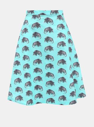 Tyrkysová sukně s motivem pásovce annanemone