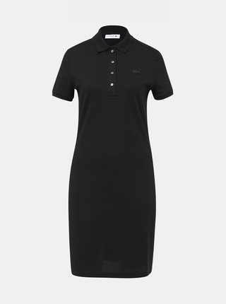 Čierne basic šaty Lacoste