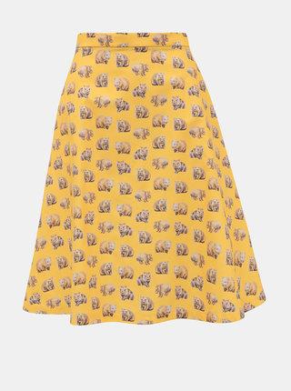Žlutá sukně s motivem vombata annanemone