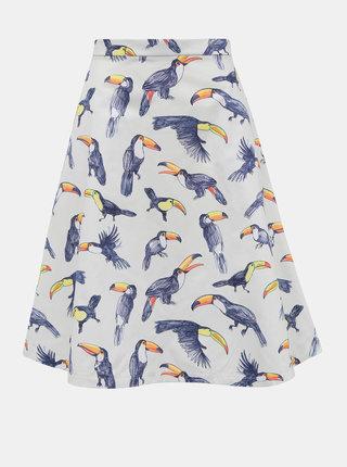 Svetlošedá sukňa s motívom tukana annanemone
