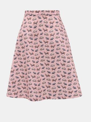 Rúžová sukňa s motívom hrocha annanemone