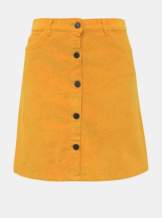 Hořčicová manšestrová sukně Noisy May Sunny